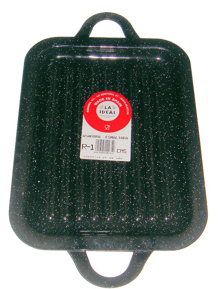 Oferta Asador esmaltada rectangular 21x27cm