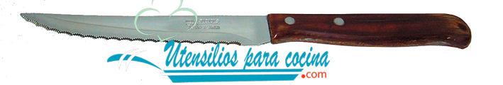 Oferta Cuchillo chuletero perlado Arcos M/madera Comprida Inox 10 cm