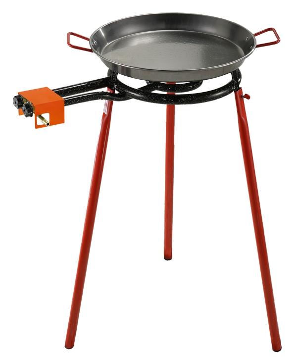 Oferta Kit paellero de gas butano 300MM + Soporte rojo + Complementos