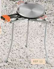 Oferta Kit paellero de gas butano 400MM+ Soporte plegable + Complementos + Paella Valenciana 50cm