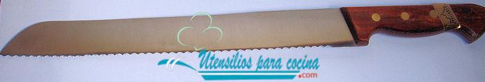 Oferta Chuchillo pan Pallares Inox m/prensado 28 cm