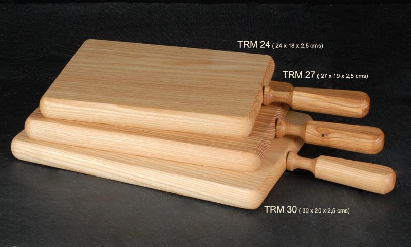 Oferta Tabla Madera Rectangular Con Mango 30x20x2.5cm