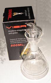Oferta Aceitera VIER antigoteo de vidrio 500ml